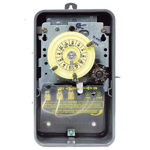Intermatic T171CR ON/OFF T170 Series Mechanical Timer Switch With Skip-A-Day 120 Volt AC 40 Amp 24 Hour