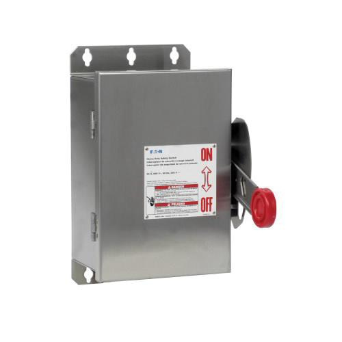 Eaton DH362UWK 3 Wire 3 Pole Non-Fusible K Series Heavy-Duty Safety Switch 600 Volt AC 60 Amp NEMA 4X