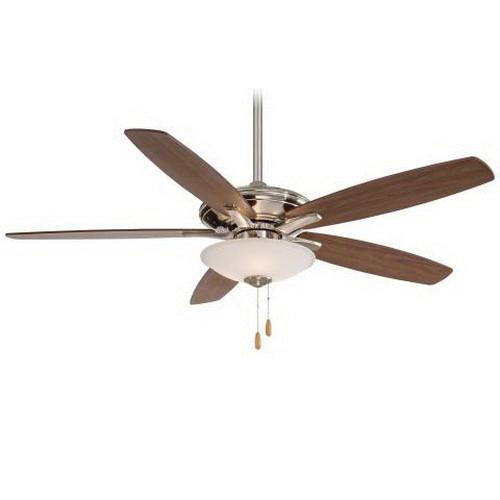 Minka-Aire F522-BN Mojo Ceiling Fan With Light 52 Inch 5 Blade 3 Speed Brushed Nickel