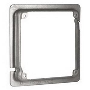 Raco 855 Pre-Galvanized Steel 2-Gang Drawn Tile Cover 4-11/16 Inch x 4-11/16 Inch x 5/8 Inch Raised