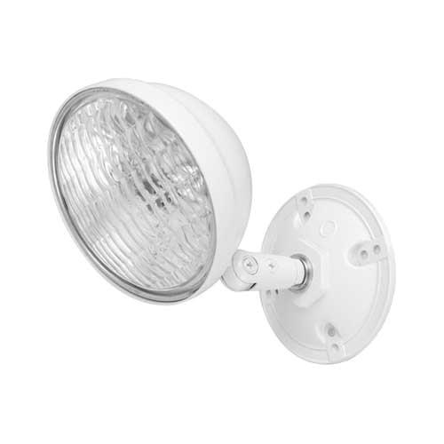 Hubbell Lighting OMSDW0605 Octagonal Box Mount 2-Head Remote Emergency Light Fixture 5.4 Watt 6 Volt White Dual-Lite®