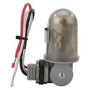 NSI 2002 Thermal 180 Degree Swivel Photocontrol 208 - 277 Volt AC SPST Gray Tork®