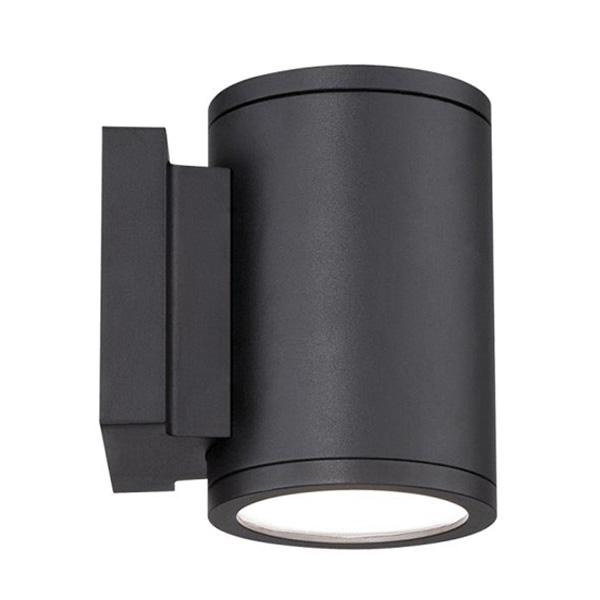 WAC Lighting WS-W2605-BK 1-Light Junction Box Mount Wall Sconce 16 Watt 120 Volt Black Powder Coated