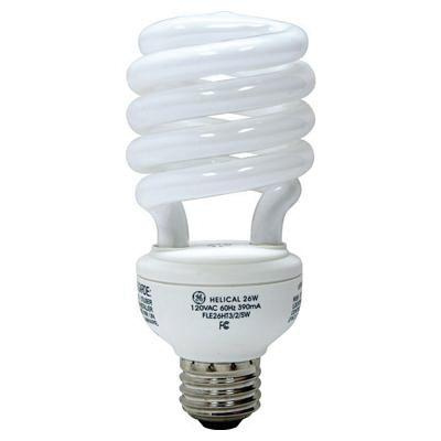 GE Lighting 25195 T5 Spiral Compact Fluorescent Lamp 26 Watt E26 Medium Base 1700 Lumens 82 CRI 4100K