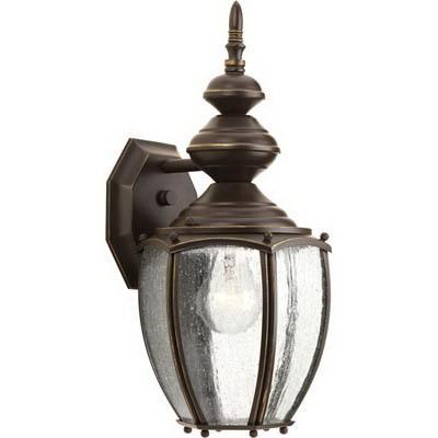 Progress Lighting P5765-20 1-Light Wall Lantern 100 Watt 120 Volt 7 Inch Antique Bronze Painted Roman Coach