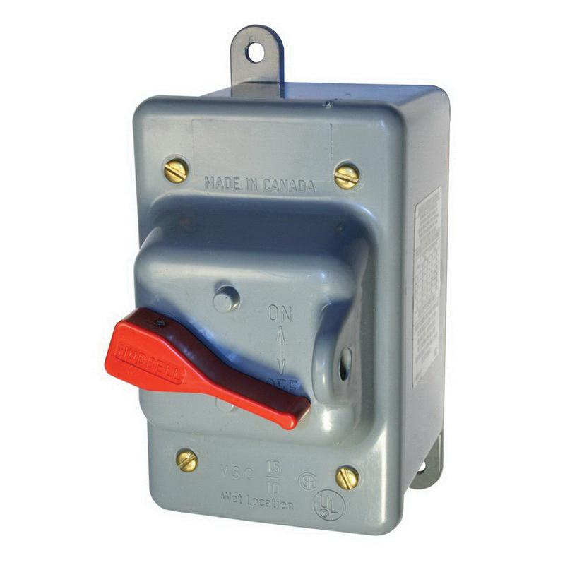 Hubbell-Wiring HBL13R23D 3-Pole Manual Motor Controller Disconnect Switch 600 Volt AC 30 Amp Circuit-Lock®