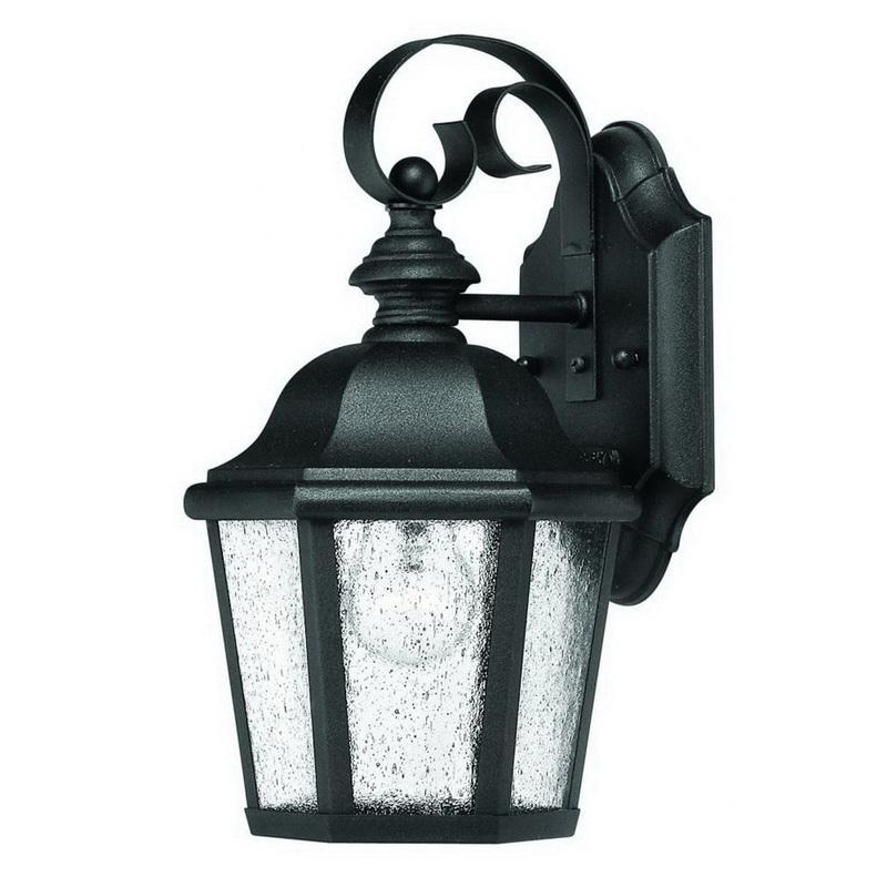 best value 86fa8 d7aaf Hinkley Lighting 1674BK 1-Light Wall Lantern 60-Watt 120-Volt Black  Edgewater™
