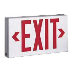Cooper Lighting LPX7 Self Powered LPX Series LED Exit Sign White Textured Housing Red Letter 120/277 Volt Sure-Lites®