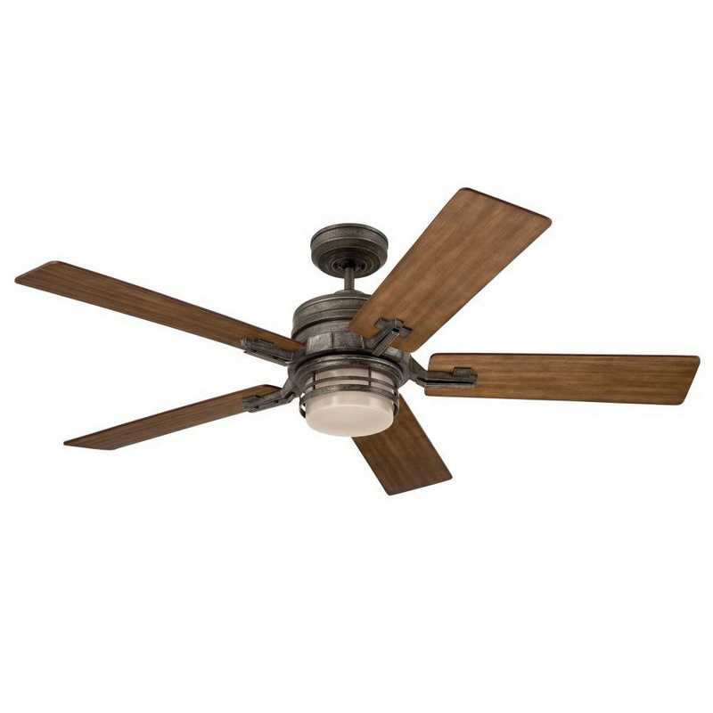 Emerson CF880VS Contemporary Ceiling Fan With Light 54 Inch 5 Blade 3 Speed Vintage Steel Amhurst