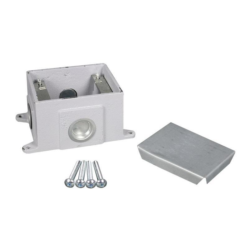 Wiremold 880CS1-1 Cast Iron 1-Gang Multi-Service Floor Box 5-3/16 Inch x 4-3/8 Inch x 3-7/16 Inch 48 Cubic-Inch OmniBox®