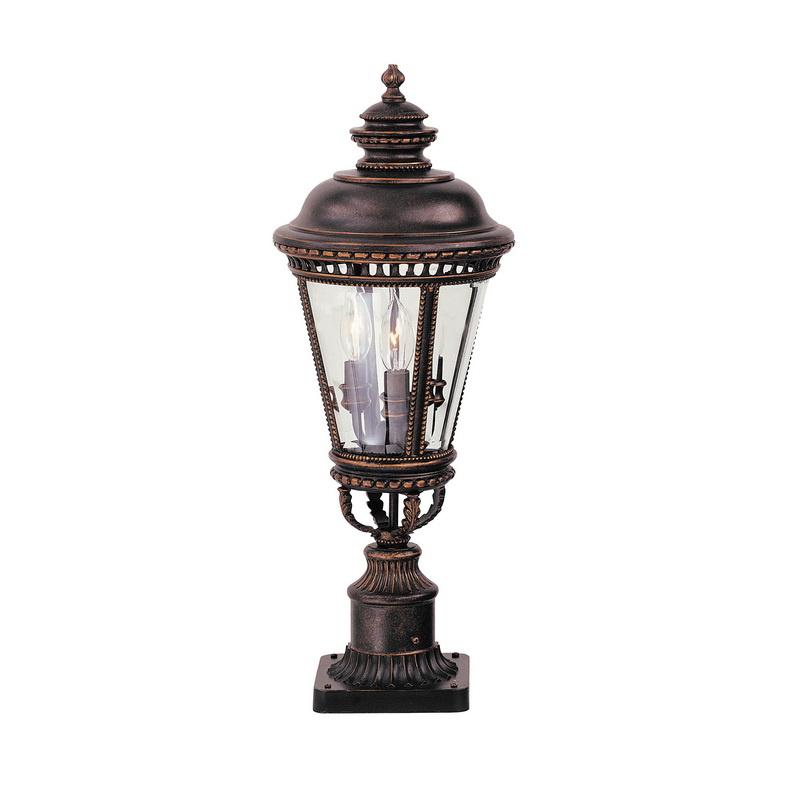 Murray OL1907GBZ 3-Light Outdoor Post Mount Lantern 60 Watt 120 Volt Grecian Bronze Castle
