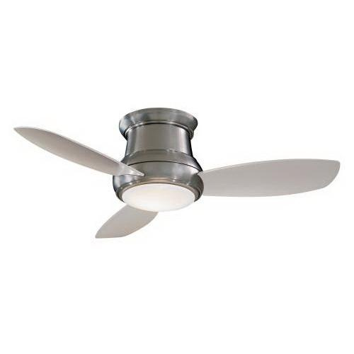 Minka-Aire F519-BN Concept II Ceiling Fan With Light 52 Inch 3 Blade 3 Speed Brushed Nickel