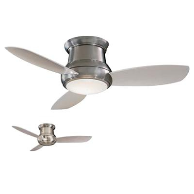 Minka-Aire F518-BN Concept II Ceiling Fan With Light 44 Inch 3 Blade 3 Speed Brushed Nickel