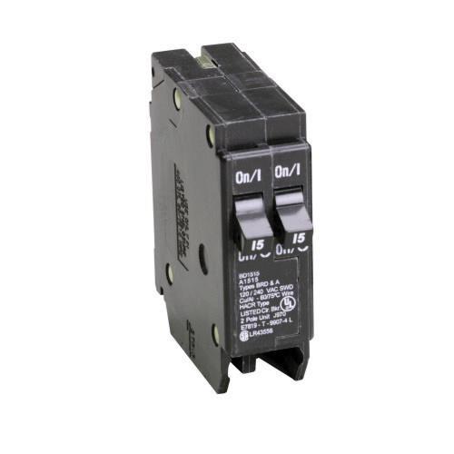 Eaton BD1515 Plug-In Mount Type BD Duplex Circuit Breaker 1-Pole (2) on