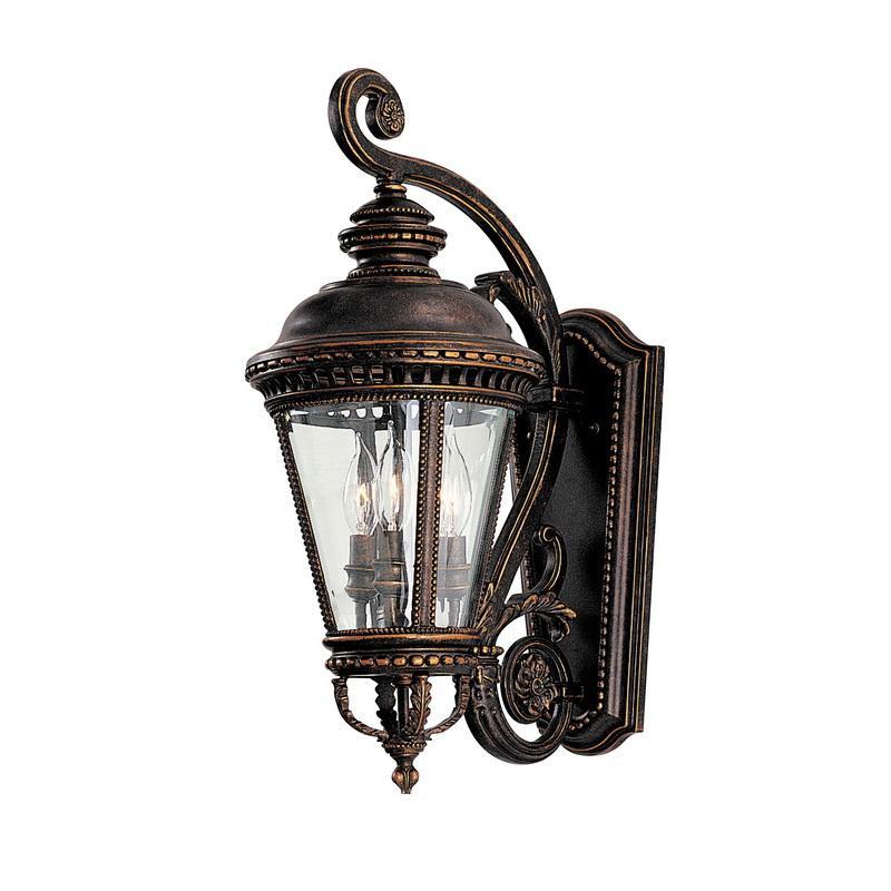 Murfeiss OL1901GBZ 3-Light Outdoor Wall Lantern 60 Watt 120 Volt Grecian Bronze Castle