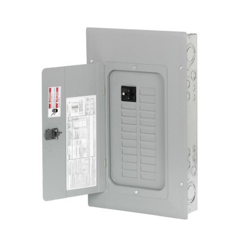 Eaton BR2020B100 1-Phase 3 Wire Main Circuit Breaker Load Center 20 Circuits 120/240 Volt AC 100 Amp NEMA 1