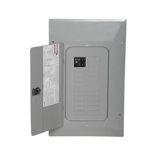 Eaton BR2020B100V 1-Phase 3 Wire Main Circuit Breaker Load Center 20 Circuits 120/240 Volt AC 100 Amp NEMA 1