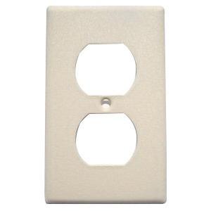 Mulberry 99101 Steel Standard Size 1-Gang Wallplate (1) Duplex Receptacle Ivory