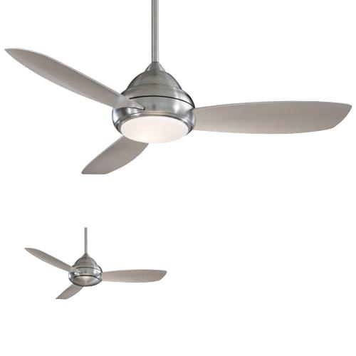 Minka-Aire F516-BN Concept I Ceiling Fan With Light 44 Inch 5 Blade 3 Speed Brushed Nickel