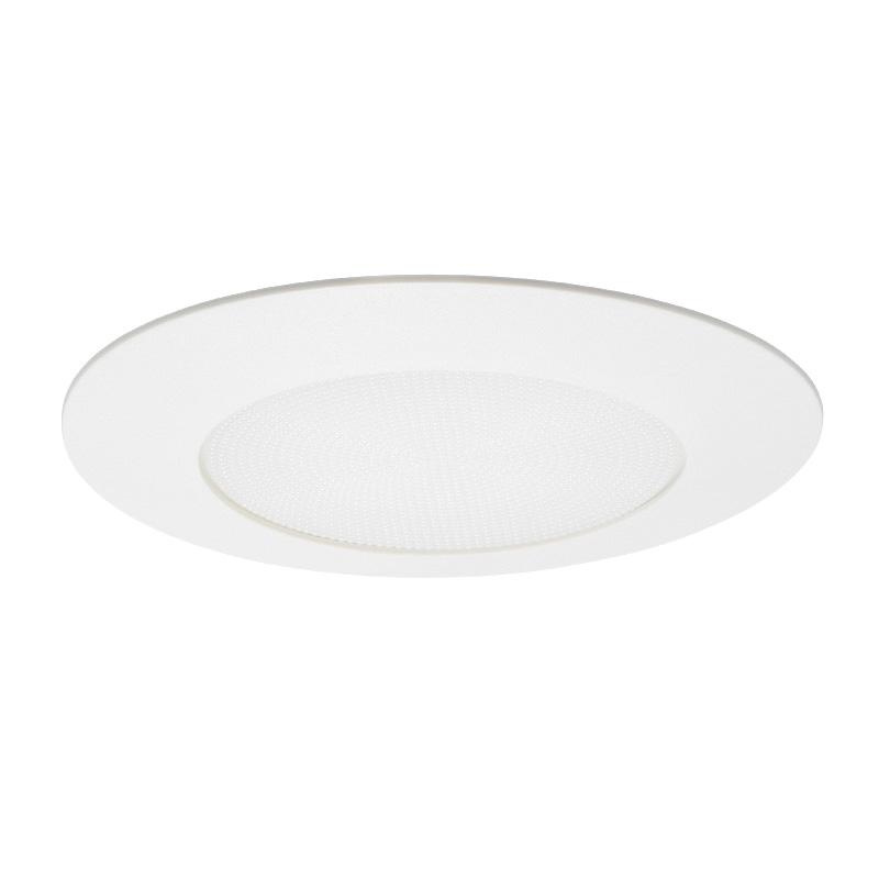 Juno Lighting V3040n Pw 6 Inch Shower Reflector Trim With Stippled Opal Plastic Lens Round White Vulite Recessed Lighting Indoor Fixtures Lighting