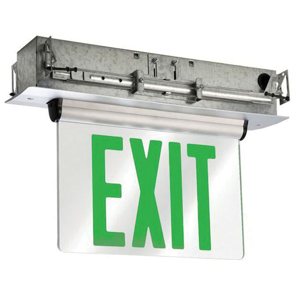 Cooper Lighting Eur60g Led Edge Lit Exit Sign With Ac Input