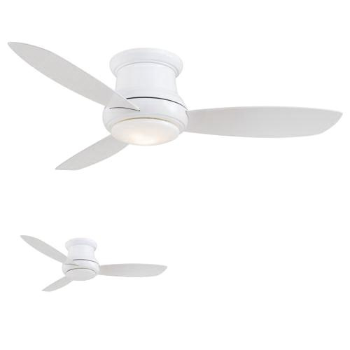 Minka-Aire F519-WH Concept II Ceiling Fan With Light 52 Inch 3 Blade 3 Speed White