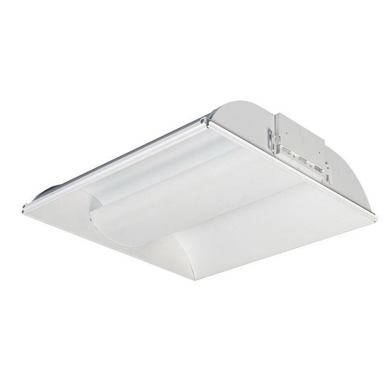Lightolier CFH2GPF2FTUNVCD 2-Light Air Return Direct/Indirect Coffaire Fluorescent Luminaire With Perforated Mesh Shield 40 Watt 120 - 277 Volt Baked Matte White Daybrite