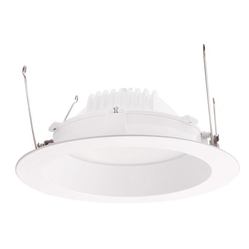 Rab DLED6R12YN 6 Inch LED Retrofit Down Light Fixture 120 Volt Round 12 Watt 85 CRI 3500K 824 Lumens White Polyester Powder Coated