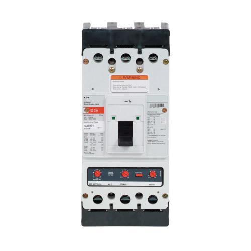 Eaton KD3200 Panel Mount Type KD Molded Case Circuit Breaker 3-Pole 200 Amp 600 Volt AC 250 Volt DC