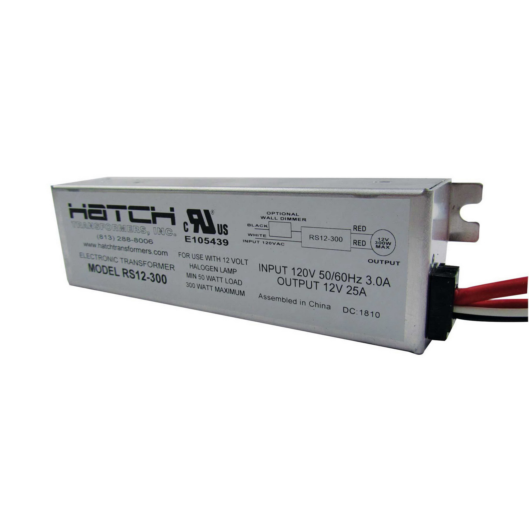 Hatch Lighting RS12-300 Hardwired Electronic Low Voltage Transformer ...