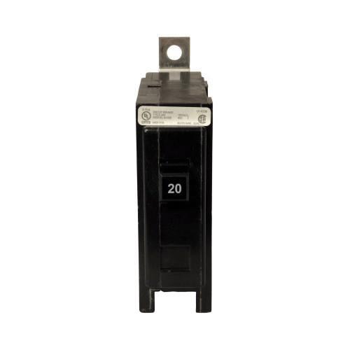 Eaton QBHW1020 Bolt-On Mount Type QBHW Industrial Miniature Circuit Breaker 1-Pole 20 Amp 120/240 Volt AC Quicklag®