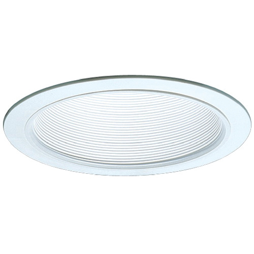 Elco Lighting Elm30w 6 Inch Metal Step Baffle Trim White