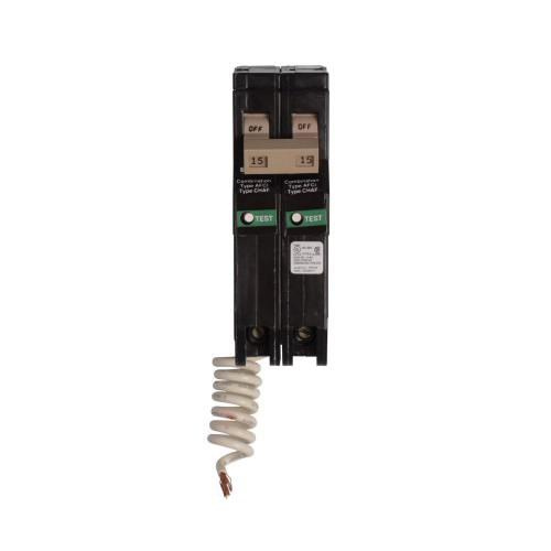 Eaton CH215CAF Plug-In Mount Type CH Branch Feeder Combination Arc Fault Circuit Breaker 2-Pole 15 Amp 120/240 Volt AC
