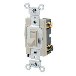 leviton 54503-2w 120/277-volt ac 15-amp 3-way commercial/specification  grade toggle framed ac quiet switch white - toggle switches - switches -  wiring