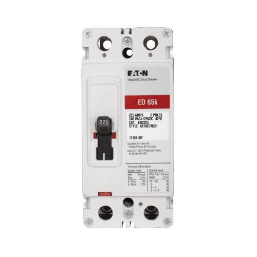 Eaton ED2200I Panel Mount Type ED Molded Case Circuit Breaker 2-Pole 200 Amp 240 Volt AC 125 Volt DC