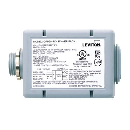 leviton opp20 rd4 auto on manual on standard power pack. Black Bedroom Furniture Sets. Home Design Ideas
