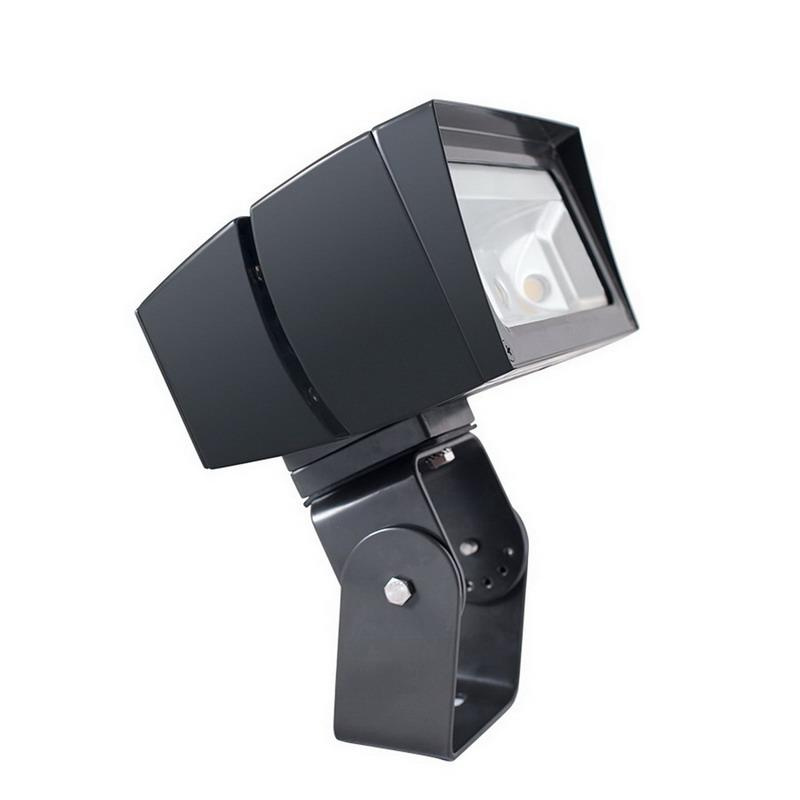 Rab FFLED39T Future Flood Series Rectangular LED Flood Light Fixture 39 Watt 120 - 277 Volt 5000K Trunnion Mount Bronze