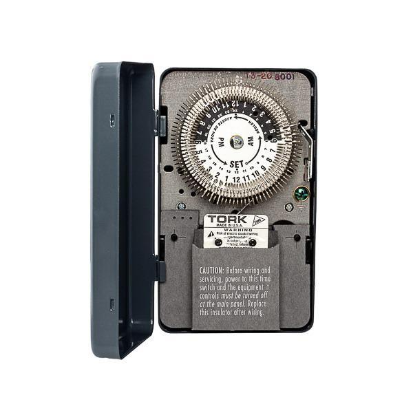 Nsi 8001 Cycle Timer Switch 120-volt 24 Hour Tork U00ae - Analog Timers - Relay  U0026 Timers