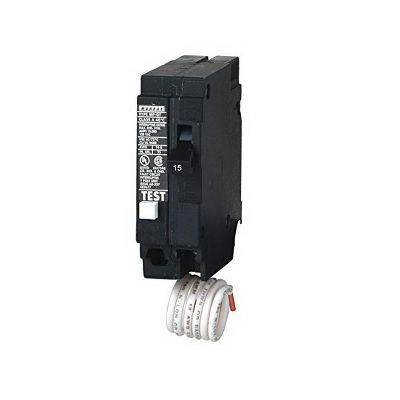 Murray MP115GF Plug-In Mount Type MP-GT Ground Fault Circuit Interrupter 1-Pole 15 Amp 120 Volt AC