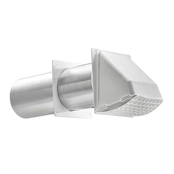 Lambro 222w Preferred Hood Vent With Pipe And Trim Plate 3 Inch White Plastic