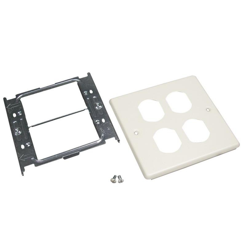 Wiremold G4047-2BBFF 4-Gang Overlapping Cover Steel Gray 4000 ...
