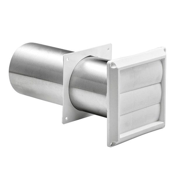 Lambro 290w Louvered Vent With Pipe And Trim Plate 3 Inch White Plastic
