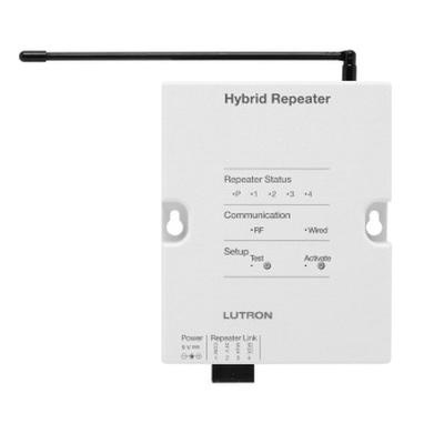 Lutron HQR-REP-120 Hybrid Repeaters RS485 434 Mega-Hz White ...