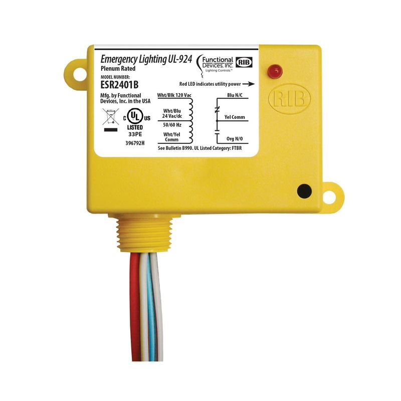 Functional Device Esr2401b Emergency  Shunt Enclosed Lighting Relay Spdt 20