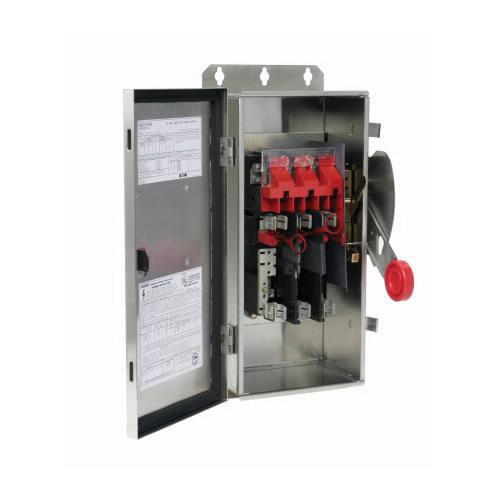 Eaton DH362FWK 3 Wire 3 Pole Fusible K Series Heavy-Duty Safety Switch 600 Volt AC 60 Amp NEMA 4X