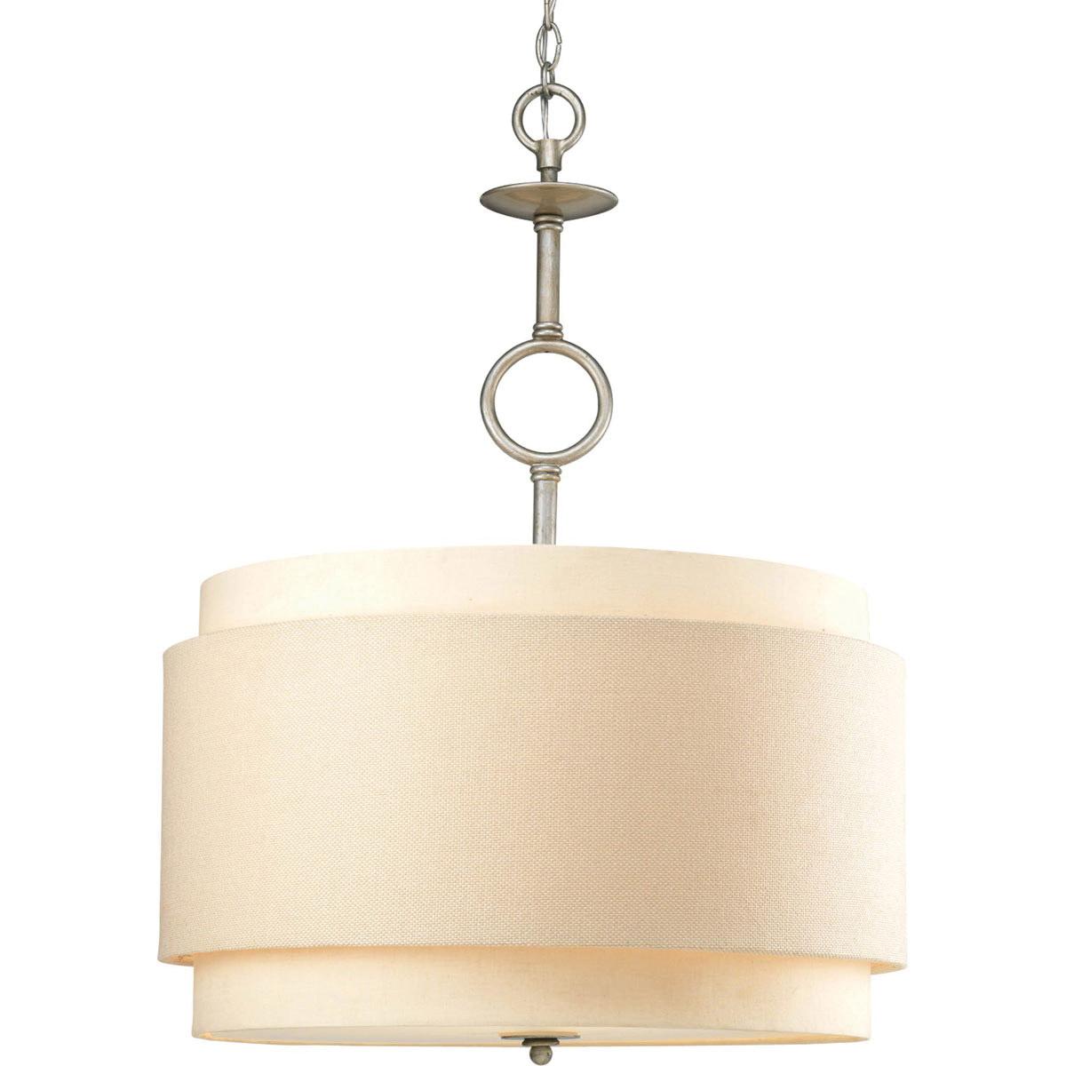 Progress Lighting P5056-134 3-Light Ceiling Fixture 120 Volt 100 Watt  Silver Ridge Ashbury