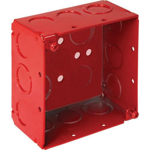 Orbit Industries FA-4SDB-MKO Powder Coated Sheet Steel Deep Fire Alarm Box 4 Inch x 4 Inch x 2-1/8 Inch 30.3 Cubic-Inch
