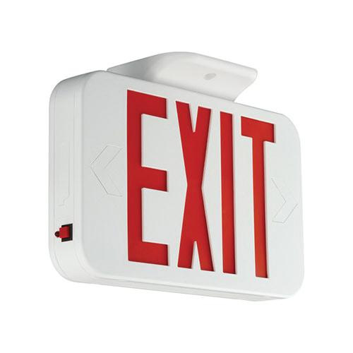 Hubbell Lighting CER Emergency CE Series LED Exit Sign White Housing Red Letter 120/277 Volt Compass®