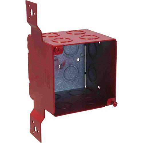 Orbit Industries FA-4SEDB-CKO-FB Powder Coated Sheet Steel Extra Deep Fire Alarm Box 4 Inch x 4 Inch x 3-1/2 Inch 46 Cubic-Inch