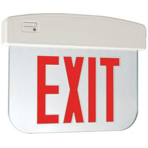 Cooper Lighting APXEL71R Single Face Self Powered APXEL Series LED Edge-Lit Exit Sign White Housing Red Letter 120/277 Volt Sure-Lites®